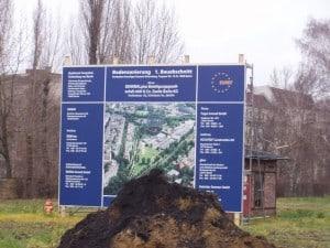 Bauschild und Aushub vom 08.12.2008