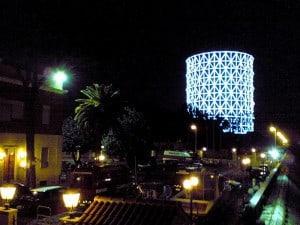 """Gasometer in Rom bei der """"weißen Nacht"""" 2006"""