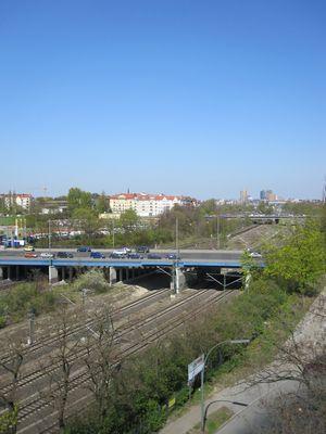 Blick auf Kolonnen- und Monumentenbrücke