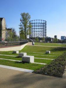 Park auf der Nordspitze, Blick nach Süden