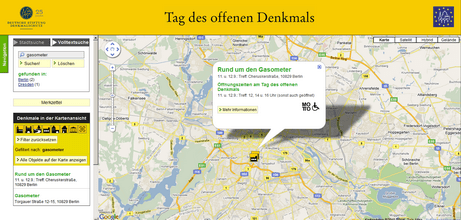 "Projektseite Denkmaltag Berlin ""Gasometer"""