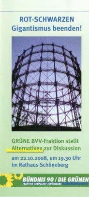 Flyer der Grünen von 2008