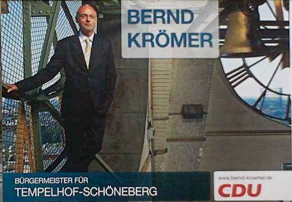 Wahlplakat Krömer