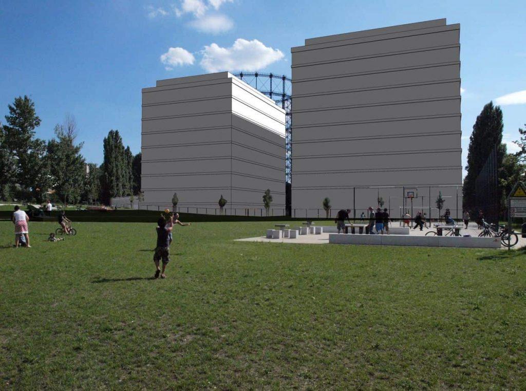 Simulation Baumassen Baufelder Nord