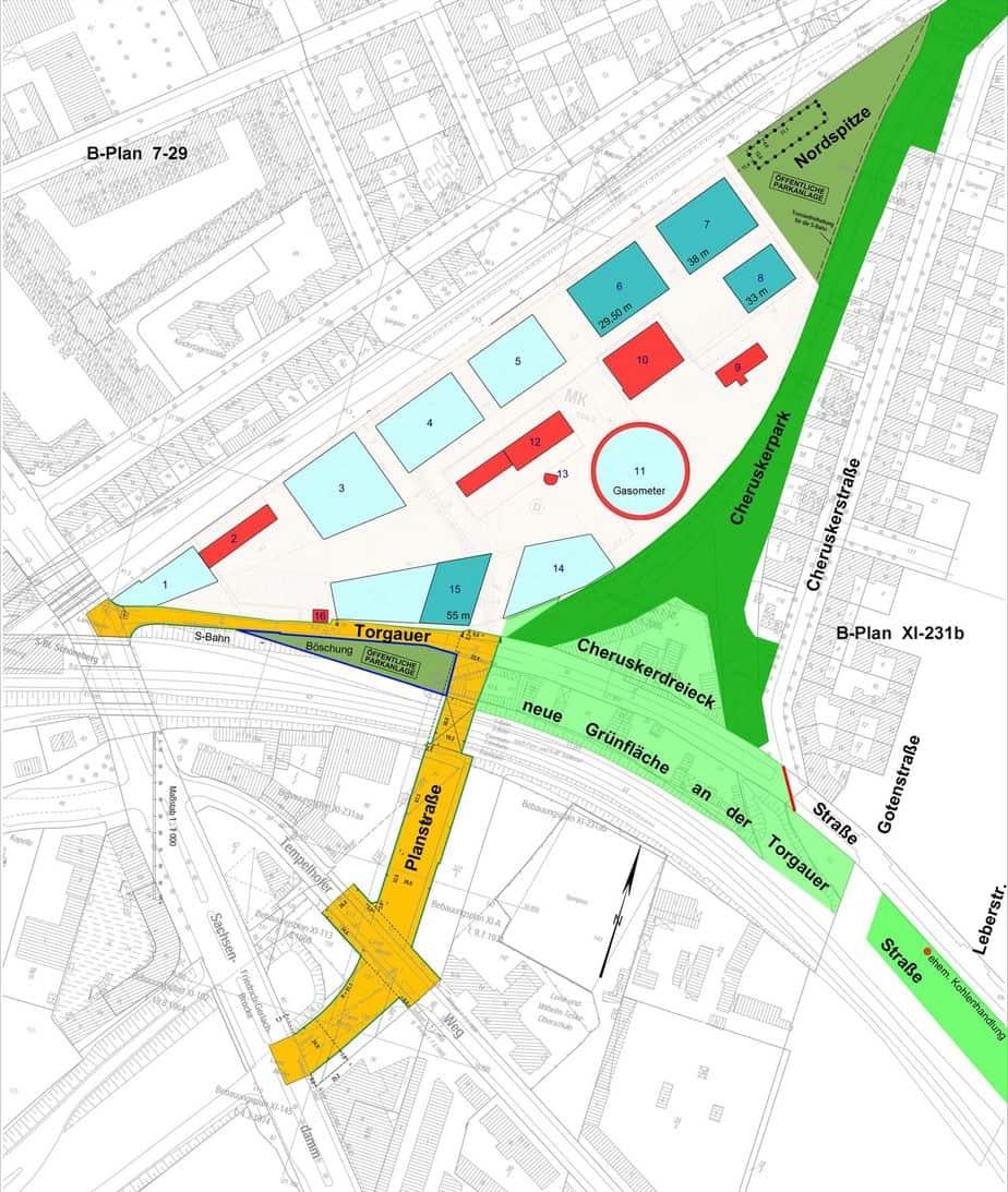 Grünflächenplanung Torgauer Straße