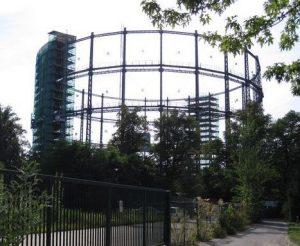 Gasometer Mariendorf 2012 eingerüstet
